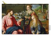 Christ With Mary And Martha Carry-all Pouch