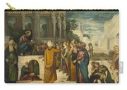 Christ With The Adulterous Woman Carry-all Pouch