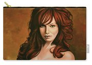 Christina Hendricks Painting Carry-all Pouch