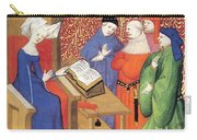 Christine De Pizan Lecturing To Men Carry-all Pouch