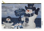 Christmas - Snowmen Collection - Family - Peace - Snow Carry-all Pouch