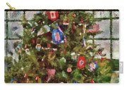 Christmas - An American Christmas Carry-all Pouch by Mike Savad