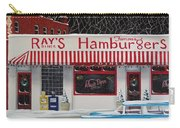 Christmas At Ray's Diner Carry-all Pouch by Catherine Holman