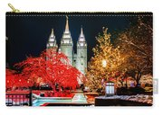Christmas At Temple Square Carry-all Pouch
