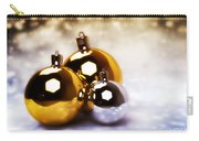 Christmas Balls Gold Silver Carry-all Pouch