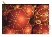 Christmas Balls In Red And Gold Carry-all Pouch