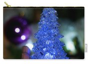 A Christmas Crystal Tree In Blue Carry-all Pouch
