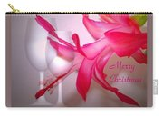 Christmas Cactus And Two Glasses - Merry Christmas Carry-all Pouch