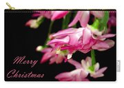 Christmas Cactus Greeting Card Carry-all Pouch by Carolyn Marshall