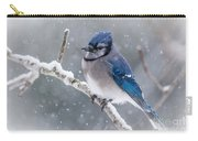 Christmas Card Bluejay Carry-all Pouch