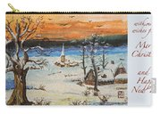 Christmas Card Painting Carry-all Pouch