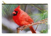Christmas Cardinal - Male Carry-all Pouch