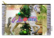 Christmas Carousel Horse With Pine Branch Carry-all Pouch