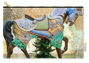 Christmas Carousel Warrior Horse-1 Carry-all Pouch