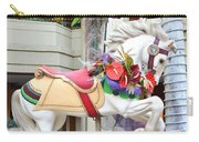 Christmas Carousel White Horse Carry-all Pouch