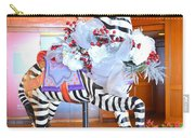 Christmas Carousel Zebra Carry-all Pouch