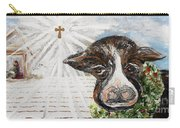 Christmas Cow - Oh To Have Been There... Carry-all Pouch