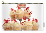 Christmas Cupcakes On Stand Carry-all Pouch