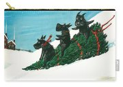 Christmas Day Scottie Style Carry-all Pouch