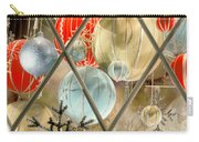 Christmas Decorations In Window Carry-all Pouch