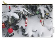 Christmas Decorations On Snowy Tree Carry-all Pouch