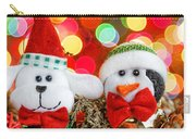 Christmas Dog And Penguin Carry-all Pouch