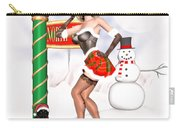 Christmas Elf Cleo Carry-all Pouch by Renate Janssen