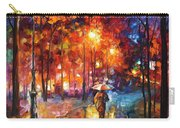 Christmas Emotions - Palette Knife Oil Painting On Canvas By Leonid Afremov Carry-all Pouch