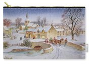 Christmas Eve In The Village  Carry-all Pouch by Stanley Cooke