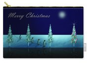 Christmas Eve Walk Of The Penguins  Carry-all Pouch