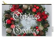 Christmas Greetings Door Wreath Carry-all Pouch