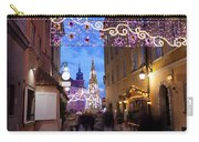 Christmas Illumination On Piwna Street In Warsaw Carry-all Pouch