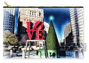 Christmas In Philadelphia Carry-all Pouch by Bill Cannon