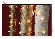 Christmas Lights On Birch Branches Carry-all Pouch by Elena Elisseeva