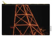 Christmas Moon Over Butte Headframe Carry-all Pouch