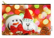 Christmas Penguin And Puppy Carry-all Pouch