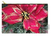 Christmas Poinsettia Carry-all Pouch
