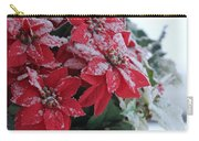 Christmas Poinsettia Flowers Carry-all Pouch
