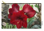 Christmas Red Amaryllis Flowers Carry-all Pouch