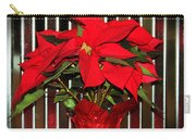 Christmas Red Poinsettia Carry-all Pouch