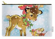 Christmas Reindeer And Rabbit Carry-all Pouch