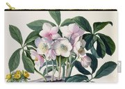 Christmas Rose Carry-all Pouch by Georg Dionysius Ehret