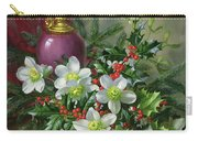 Christmas Roses Carry-all Pouch by Albert Williams