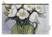 Christmas Roses Carry-all Pouch by Gillian Lawson