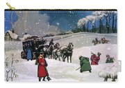 Christmas Scene Carry-all Pouch by English School