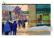 Christmas Shoppers Ogilvys Enchanted Village Window Display A Montreal Xmas Tradition Carole Spandau Carry-all Pouch