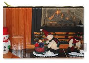 Christmas - Snowmen Collection- Fireplace Carry-all Pouch