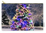 Christmas Tree In Snow Carry-all Pouch by Elena Elisseeva