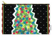 Christmas Tree Polkadots Carry-all Pouch