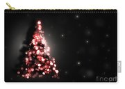 Christmas Tree Shining On Black Background Carry-all Pouch